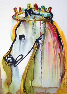 Caligula's Horse---Rare Salvador Dali Painting.