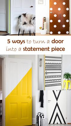 Ohoh Blog - diy and crafts: 5 DIY to try # Door