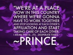 Prince is/was a deep brother. He spoke and sung about life and the world changes. Look around now, it's as if he was telling you what was going to happen in the near future sooner than you think.  He would have been a great pastor. But he had to bring the word to us in the way he did because nobody would have gone to his church for all the right reason. I know I would have hit on him every service. So God sent him to drop this knowledge on us as he did. Thank you Jesus for sharing him with…