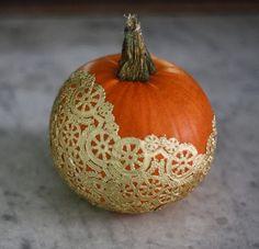 Gold Doily Pumpkin #NIPumpkins