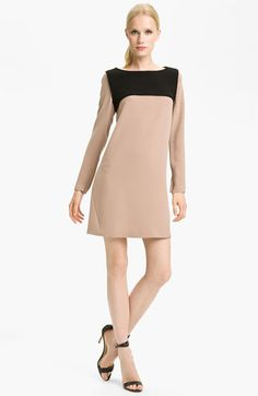 Tibi Colorblock Crepe Dress available at Nordstrom