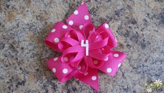 How to make a basic hair bow.