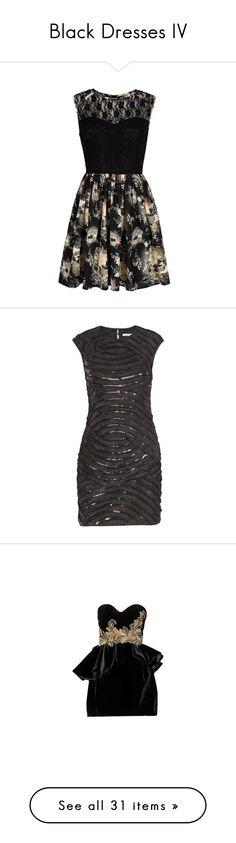 """Black Dresses IV"" by cattyrose ❤ liked on Polyvore featuring dresses, black, women, black dress, skater dress, floral lace dress, sleeveless dress, black lace dress, vestidos and diane von furstenberg"