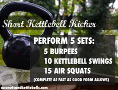 Love this quick and kick-butt kettlebell exercise! #kettlebell
