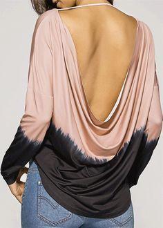 Open Back Drop Shoulder T-Shirt