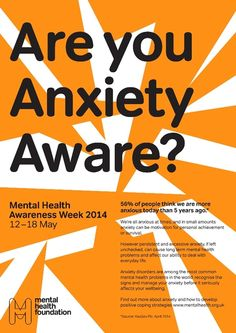 Anxiety Awareness Week poster, by Praline