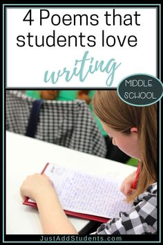 Looking for fun poetry forms that your students will love? Here are four that will teach the literary elements of poems while students enjoy playing with figurative language, theme, and word choice. Perfect idea for middle school or home school. Teaching Poetry, Writing Poetry, Teaching Writing, Teaching Ideas, Poems For Middle School, Middle School English, Forms Of Poetry, Literary Elements, Figurative Language
