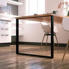 Apportez une touche moderne et minimaliste à votre table à manger avec ces pieds en acier noir. Ce modèle est du plus belle effet avec un plateau en bois pour un donner un style industriel. Idéal...