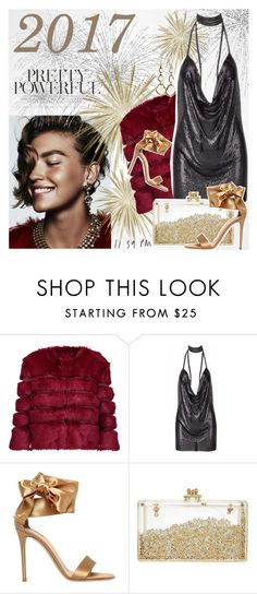 """""""Happy New Year!!"""" by elena-777s ❤ liked on Polyvore featuring AINEA, Gianvito Rossi, Ippolita, fauxfur and fallwinter2015"""