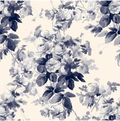 LONDON ROSE Wallpaper China Blue http://www.houseofhackney.com/collections/london-rose/london-rose-wallpaper-china-blue.html