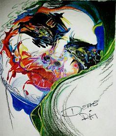 Lady Joker by Derae Rai   Pencil crayon drawing of the Joker as a gender bender fan art Friday doidle