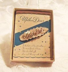 Carved MOP Mother Brooch Vintage 1900s  1940s by MrsFullersAttic