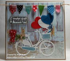 Voorbeeldkaart - Feestje!! - Categorie: Scrapkaarten - Hobbyjournaal uw hobby website