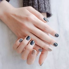 Nail color: Pretty dark tones