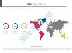 slideteam provides predesigned world map for our services and percentage powerpoint slides ppt templates ppt slide designs presentation graphics and