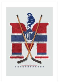 Montréal Canadiens Inspired Hockey Art Poster (Special Edition) from ManMade Art Montreal Canadiens, Nhl Hockey Teams, Hockey Players, Original Six, Vintage Banner, Of Montreal, National Hockey League, Sports Art, Inspired