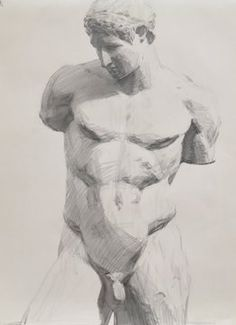Drawing The Human Figure - Tips For Beginners - Drawing On Demand Figure Drawing Tutorial, Male Figure Drawing, Guy Drawing, Drawing Poses, Life Drawing, Drawing Sketches, Drawings, Greek Drawing, A Level Art Sketchbook