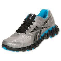 Reebok Zig Shark Men's Running Shoes | FinishLine.com | Grey/Black/Blue