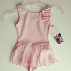 Freestyle by Danskin Skirted Ballet Leotard Girls Toddler Pink XXS 2/3 NWT Rose