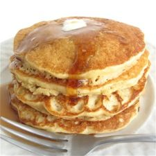 Whole grain pancake mix-Make sure to set aside time to let the batter sit before grilling the cakes.