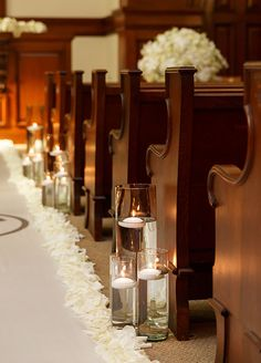 The warm glow of candlelight creates a romantic effect.