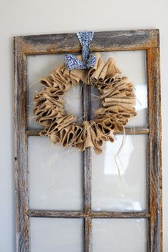 Next project burlap wreath just add red gingham bow