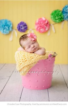 Easter Photo Session Ideas - Newborn Portrait Session by Caralee Case Photography - Featured on iHeartFaces.com