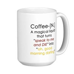 Magic Coffee Mug - #funny mug just for #coffee lovers (comes as is - magical liquid not included)