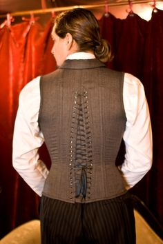 back detail-Beau Brummel   Dark Garden Corsetry. This is what my travel coat needs.