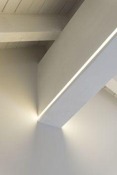 Led Lighting Interior Inspiration Ideas For 2019 Cove Lighting, Indirect Lighting, Linear Lighting, Lighting Concepts, Strip Lighting, Interior Lighting, Lighting Design, Apartment Lighting, Office Lighting
