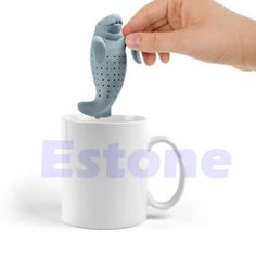 Silicone Manatee Diffuser Infuser Loose Tea Leaf Strainer Herbal Spice Filter #Unbranded