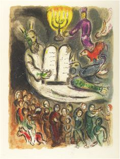Chagall - Moses shows the elders the Tablets of the Law