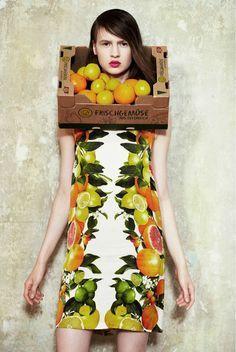 fashion editorials fruit - Cerca con Google