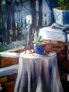 """Midnight in Midtown"", orginal, oil on canvas, 16x20.   #FineArtByTuckerDemps"