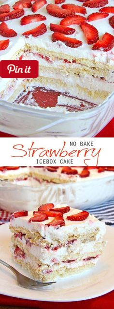 DIY DIY No-Bake-Strawberry-Icebox-Cake @ICookUEat