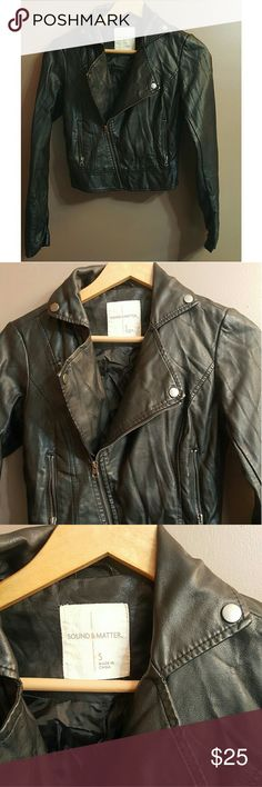 Pacsun black leather moto jacket Excellent used condition PacSun Jackets & Coats
