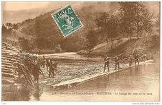 flottage de bois sur la loue JURA FRANCE