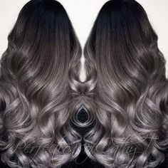 Gunmetal Granny (gray) ... by @prostylistcathyt #behindthechair #grannygrey #silverhair