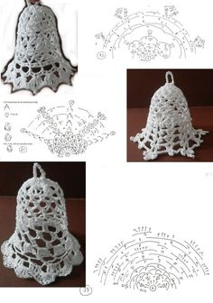 How To Read Russian Crochet Patterns Crochet Christmas Decorations, Crochet Ornaments, Crochet Snowflakes, Crochet Diy, Crochet Chart, Thread Crochet, Tatting Patterns, Easy Crochet Patterns, Crochet Russe