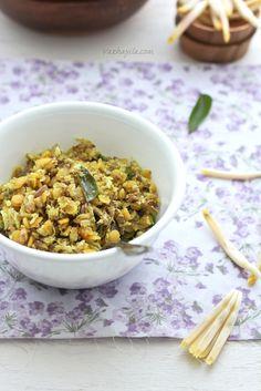 Chundum Parippum Thoran - Lentil + Banana Blossom Stir fry