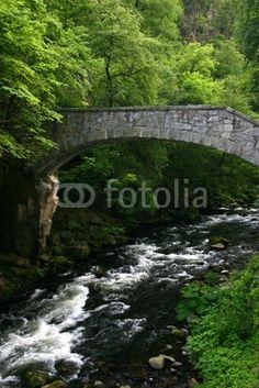 Die Jungfernbrücke im Bodetal bei Thale im Harz