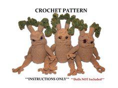 Baby Mandrake Seedling CROCHET PATTERN Doll NOT Included