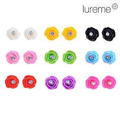 lureme®colorful steeg vorm stud oorbellen set (9 paar per set) – EUR € 3.67