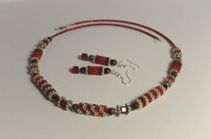 Necklace with earrings by NataliesBijoux on Etsy