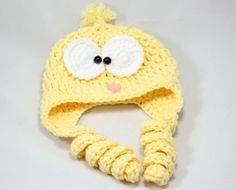 Baby chick baby Easter crochet hat baby by KarapoozCrochet on Etsy