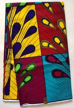 African Fabric Ankara Multicolored Rainburst Patch Per Yard Ankara Fabric, African Fabric, Pattern Design, Print Design, African Fashion, African Wear, African Design, Abstract Backgrounds, Fashion Prints