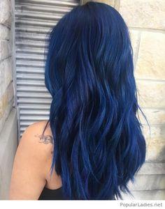 Very nice blue hair color