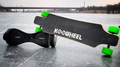 Electric Skateboard VS Beamie Hoverboard ON ICE !