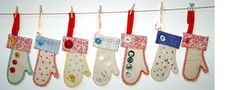 November 9 ~ Fabric Ornaments | Sew Mama Sew | Outstanding sewing, quilting, and needlework tutorials since 2005.