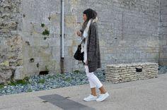 tenue jean blanc hiver